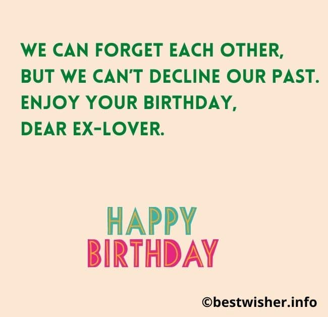 Birthday wishes for someone you used to love