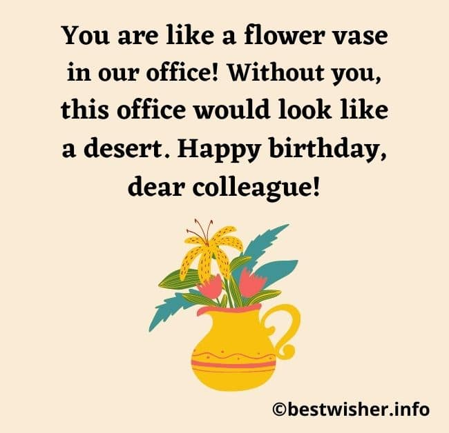 Birthday Wishes for Female Colleague