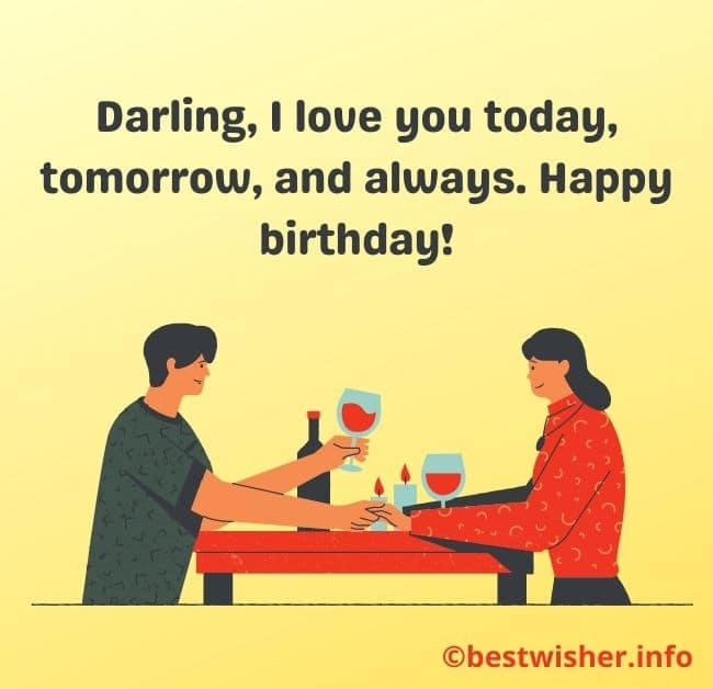 birthday messages to my GF
