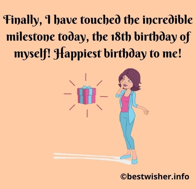 18th birthday quotes for myself
