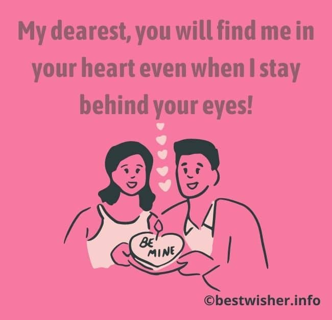 Love message for my wife far away
