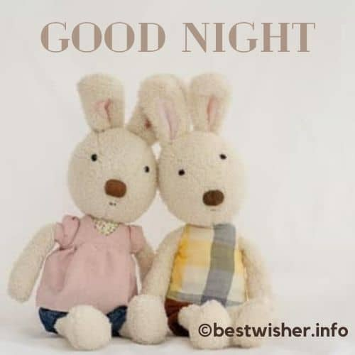 Goodnight with cute doll pic