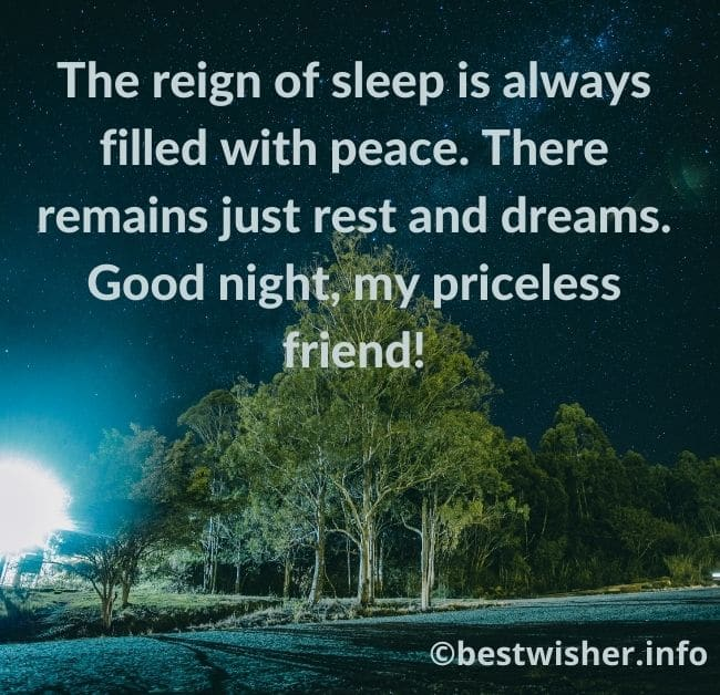 The reign of sleep is filled with peace