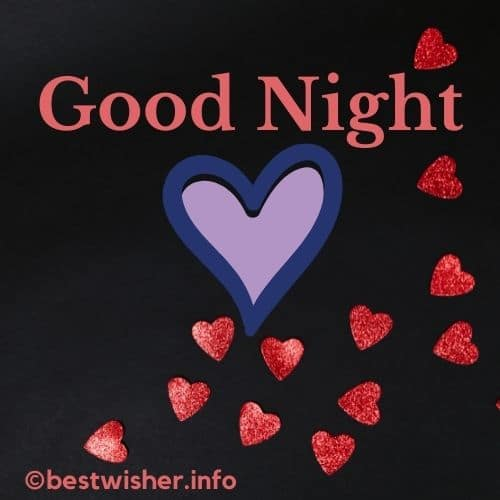 good night with multiple heart signs