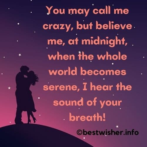 when the whole world becomes serene I hear the sound of your breath