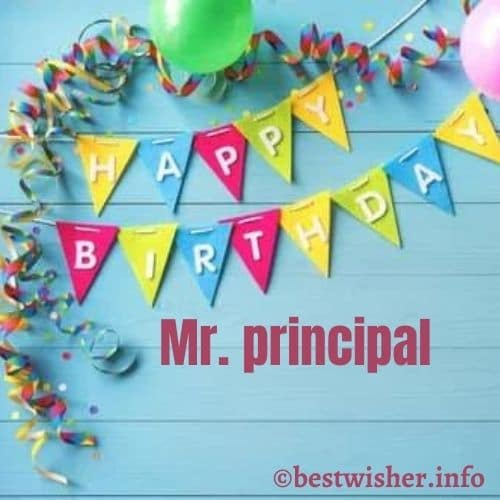 Birthday quotes for principal