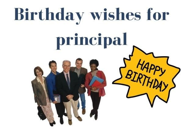 Birthday wishes for principal