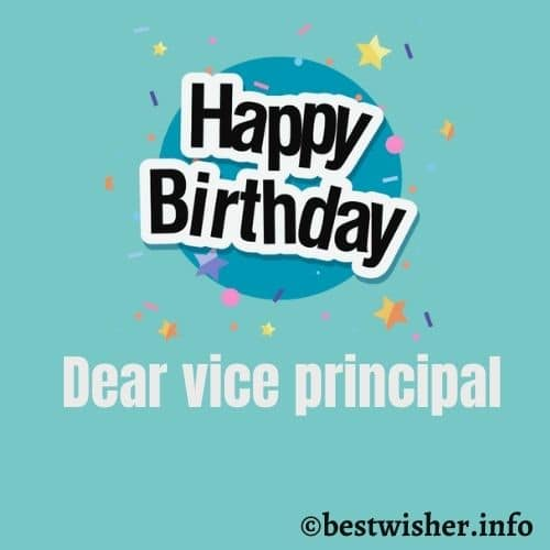 Birthday wishes for vice principal