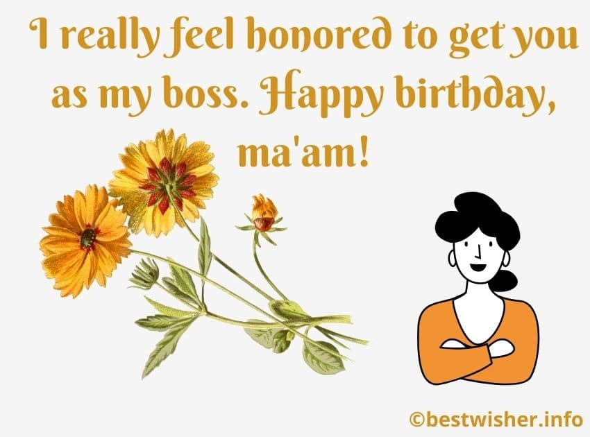 Birthday wishes for lady boss