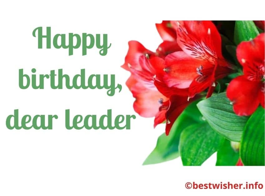 Birthday wishes for leader