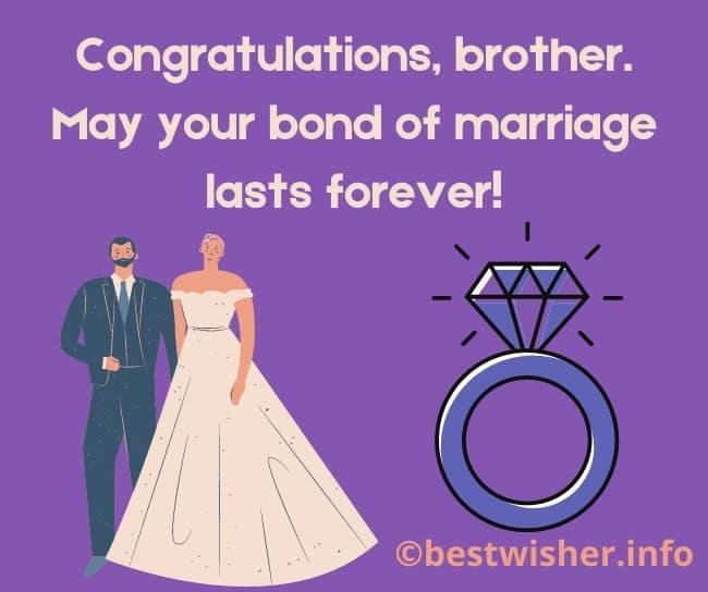 May your bond of marriage lasts forever