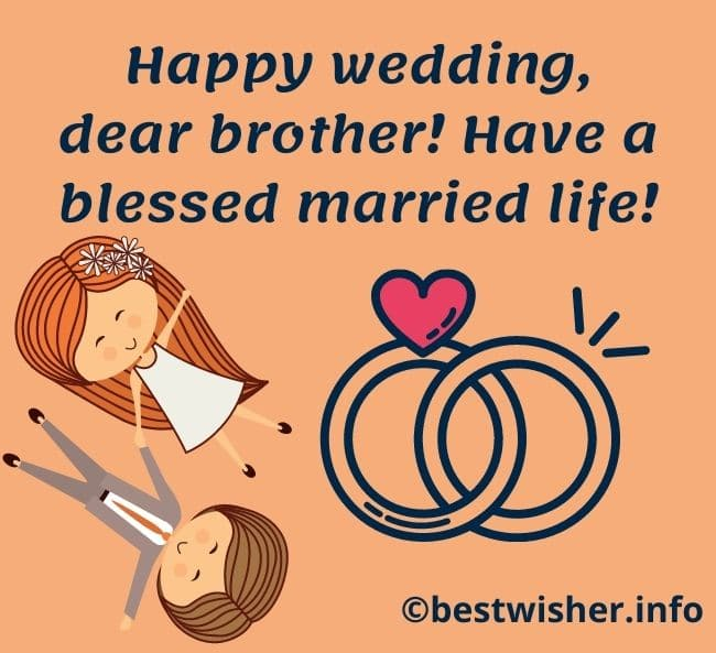 Wedding day wishes for brother